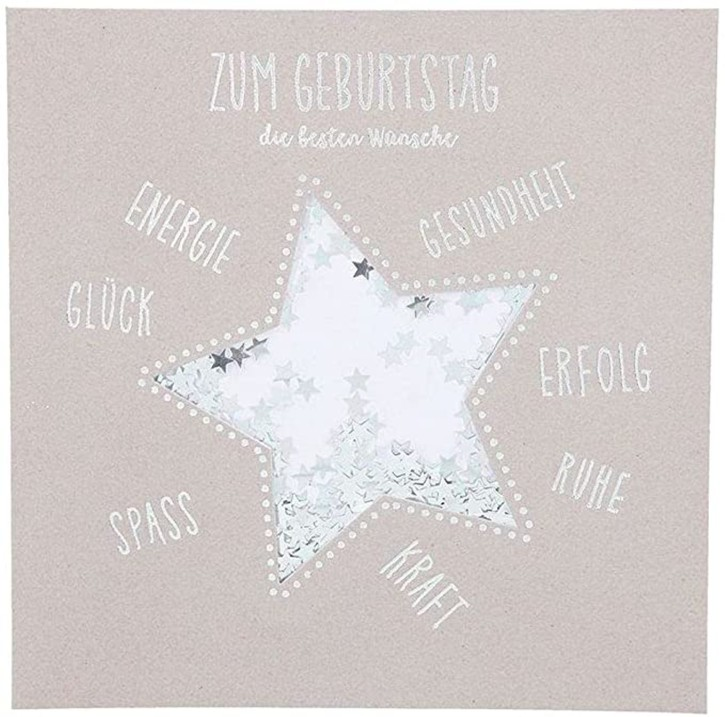 Glamour Glitzer Grußkarte Klappkarte mit Umschlag Happy Birthday Du süsses Früchtchen!  ,quadratisch 037
