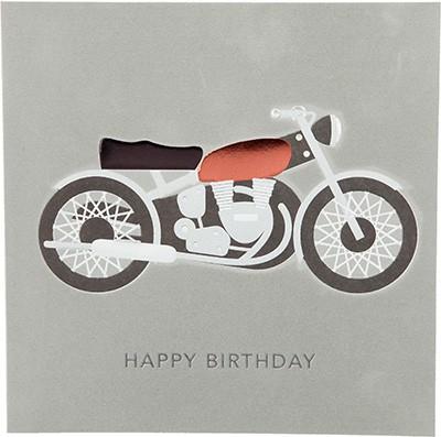 Glamour Glitzer Grußkarte Klappkarte mit Umschlag Happy Birthday ,quadratisch 042