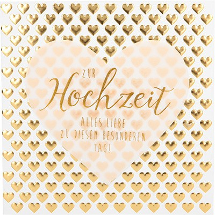 Glamour Glitzer Grußkarte Klappkarte mit Umschlag Zur Hochzeit alles Liebe zu diesem...  ,quadratisch 045