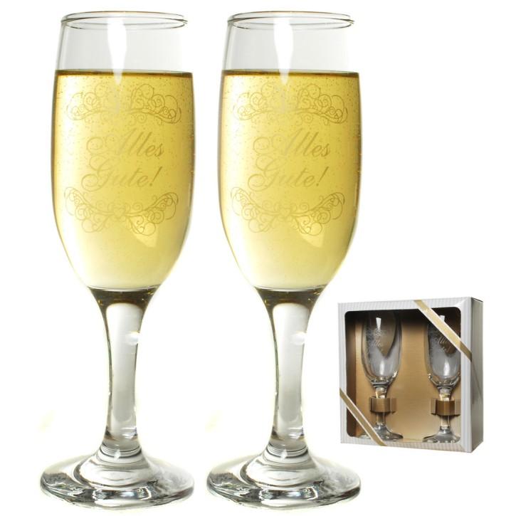 Sektglas-Set Alles Gute Geschenke zur Hochzeit Art. 67478