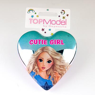 Top Model Klapp Haarbuersten mit Spruch Cutie Girl