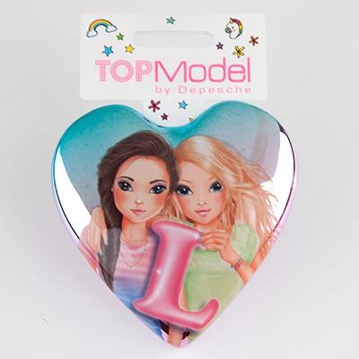 Top Model Klapp Haarbuersten mit Buchstabe L in pink
