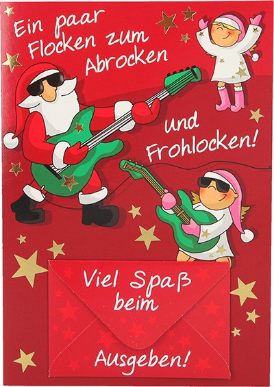 Fröhliche Weihnachtskarte als Klappkarte 8622-001