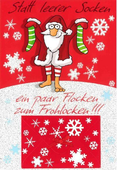 Fröhliche Weihnachtskarte als Klappkarte 8622-007