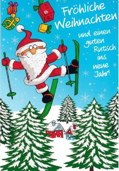 Fröhliche Weihnachtskarte als Klappkarte 8622-018 Fröhliche Weihnachten und einen guten...