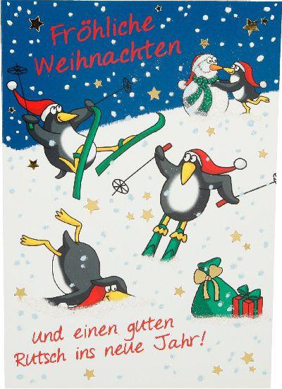 Fröhliche Weihnachtskarte als Klappkarte 8622-022 Fröhliche Weihnachten und einen guten...