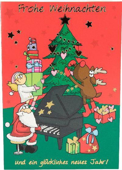 Fröhliche Weihnachtskarte als Klappkarte 8622-023 Frohe Weihnachten und ein glückliches...