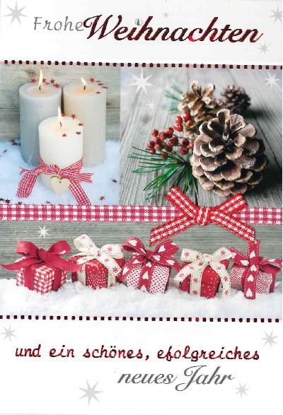 Fröhliche Weihnachtskarte als Klappkarte 8622-031