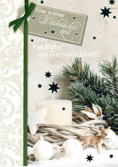 Fröhliche Weihnachtskarte als Klappkarte 8622-032