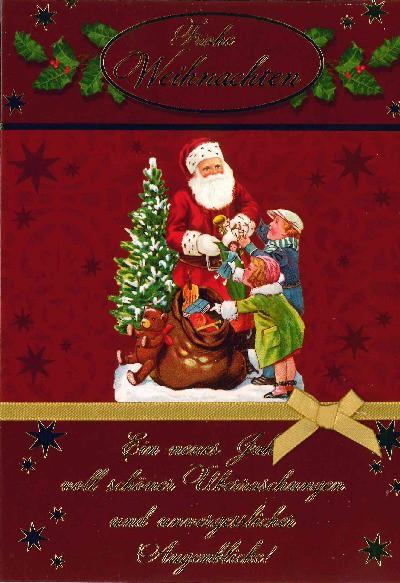 Fröhliche Weihnachtskarte als Klappkarte 8622-048