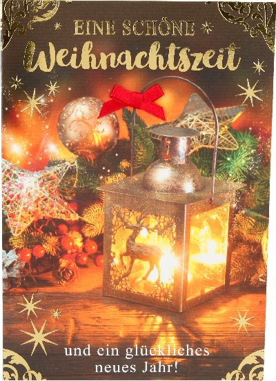 Fröhliche Weihnachtskarte als Klappkarte 8622-049