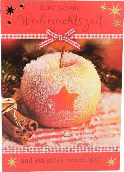 Fröhliche Weihnachtskarte als Klappkarte 8622-051