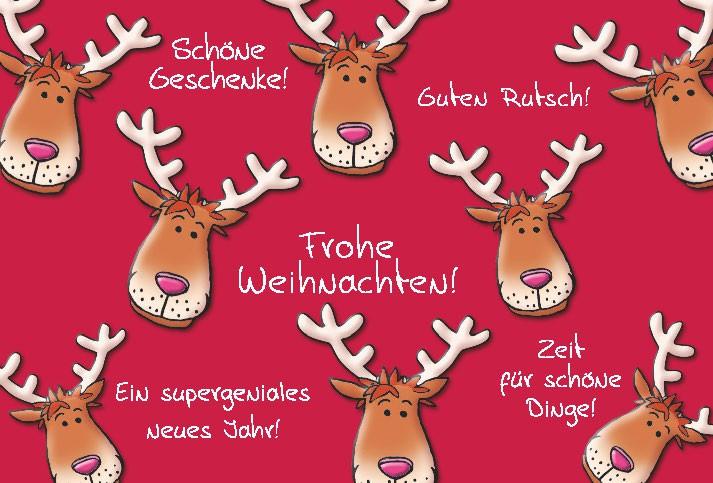 Lustige Weihnachtskarte Medi Klappkarte Weihnachten 005