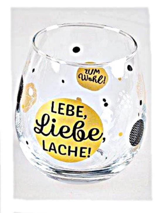 """Whiskyglas, Wasserglas oder auch Weinglas mit Spruch """"Lebe,Liebe"""""""