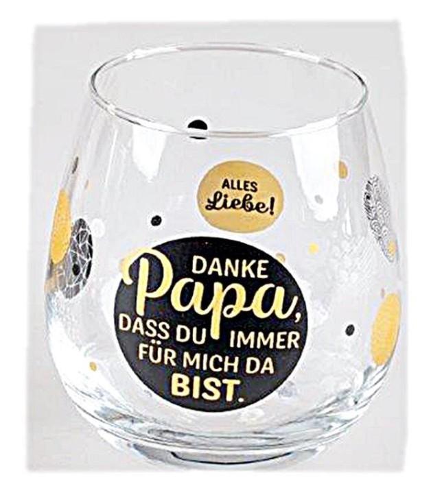 """Whiskyglas, Wasserglas oder auch Weinglas mit Spruch """"Danke Papa"""""""