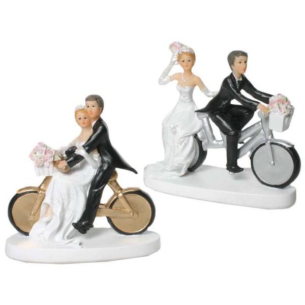 Deko Figur Brautpaar mit Fahrrad sortiert 1 von 2 Modellen