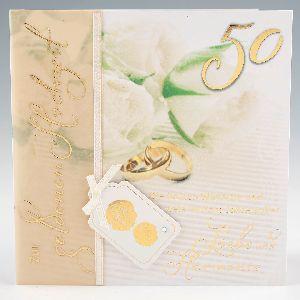 Depesche Emotions Klappkarte 048 Zur Goldenen Hochzeit
