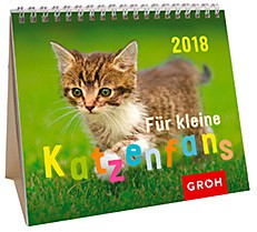 Groh Mini-Kalender 2018 zum Aufstellen Für kleine Katzenfans