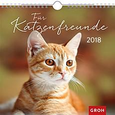 Groh Wandkalender 2018 Katzenfreunde