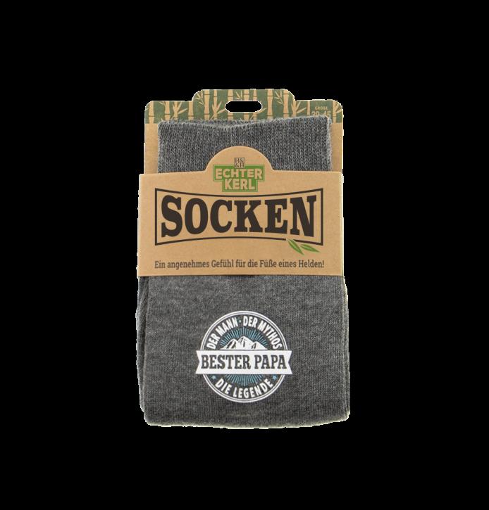 History & Heraldry Design Bambus Socken mit Titel: Bester Papa  - fuer Männer 39 - 45 / nachhaltig - Geschenk - individuell mit Namen und Spruch