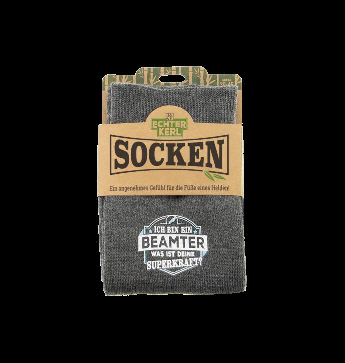 History & Heraldry Design Bambus Socken mit Titel: Beamter   - fuer Männer 39 - 45 / nachhaltig - Geschenk - individuell mit Namen und Spruch