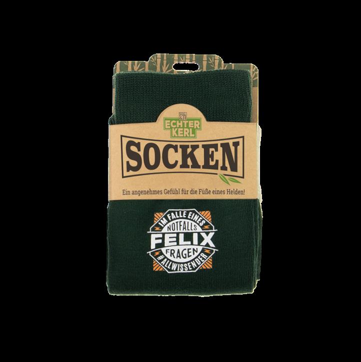 History & Heraldry Design Bambus Socken mit Name: Felix    - für Männer Herren 39 - 45 / atmungsaktiv, antibakteriell und umweltfreundlich - Geschenk - individuell mit Namen und Spruch