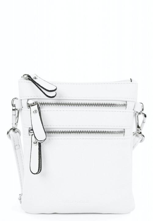 EMILY & NOAH Damentaschen Handtaschen kleine Umhängetasche Emma weiss 19x16x 2cm