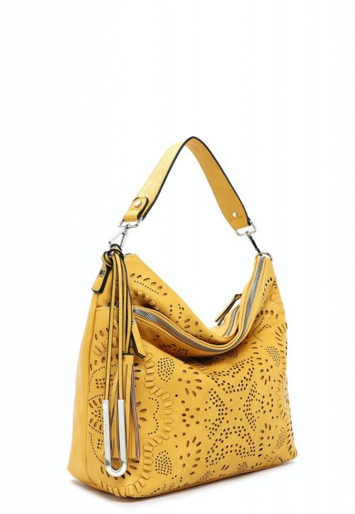 EMILY & NOAH Umhängetasche Elise yellow 460 38cm Damentaschen Handtaschen Shopper