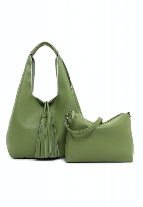 EMILY & NOAH Beutel Eva 37cm green 930 Damentaschen Handtaschen Shopper