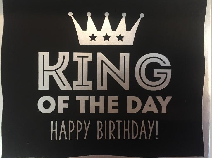 WUNSCHERFÜLLER Soundbox 1 Stück King of the day Happy Birthday!