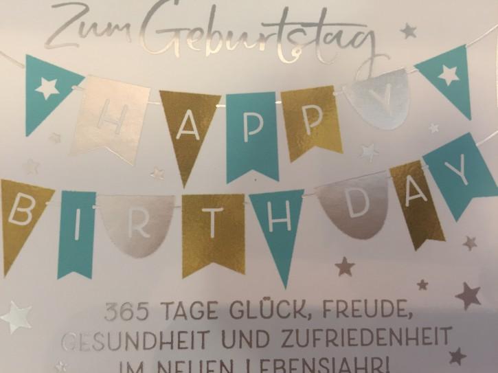 WUNSCHERFÜLLER Soundbox 1 Stück Zum Geburtstag 365 Tage Glück, ...