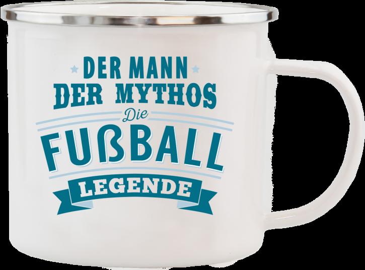 H&H Echter Kerl Emaille Becher Fussballer