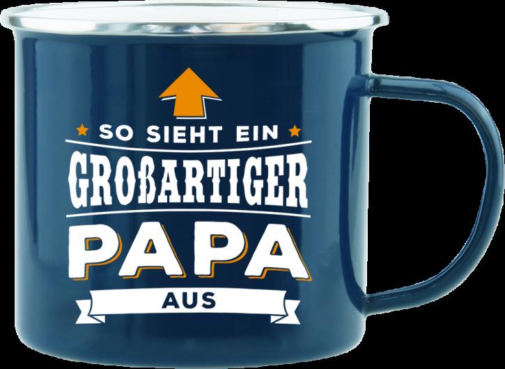 H&H Echter Kerl Emaille Becher fuer den Papa
