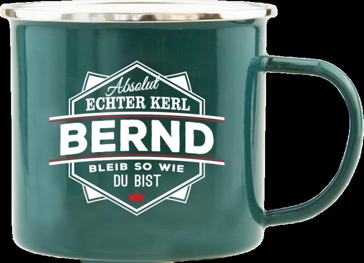 H&H Echter Kerl Emaille Becher Bernd