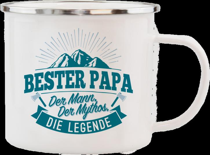 H&H Echter Kerl Emaille Becher fuer den besten Papa