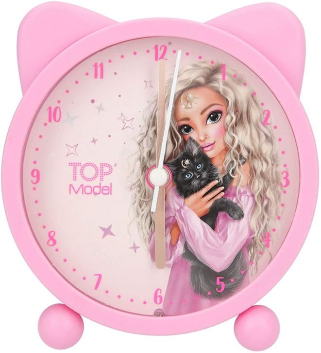 Depesche 11201 TOPModel-Analoger Wecker Moonlight-Design für Kinder rosa Gehäuse, lautlose Uhr mit Lichtfunktion