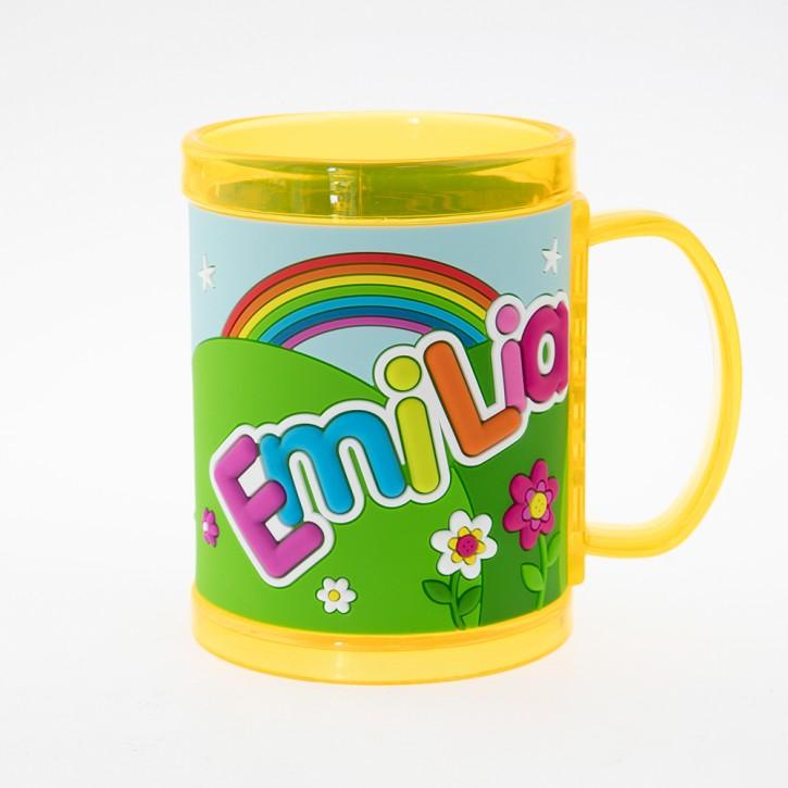 John Hinde Namensbecher für Kinder Name Emilia