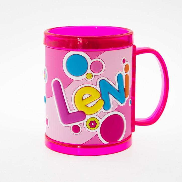 John Hinde Namensbecher für Kinder Name Leni