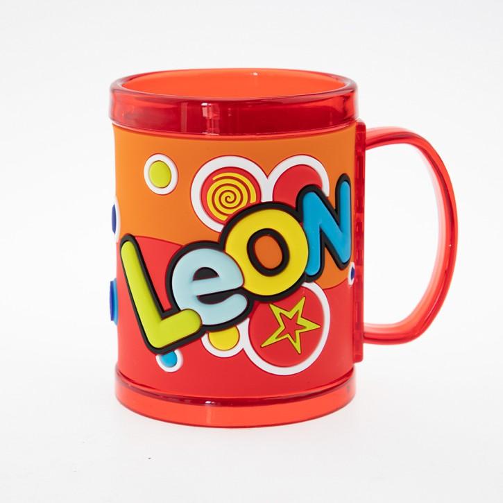 John Hinde Namensbecher für Kinder Name Leon