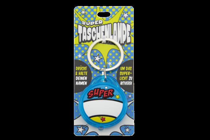 Super Taschenlampe Blanko Bau  - Schluessel Anhaenger auch fuer Schulranzen - als Geschenk - individuell mit Namen und Spruch