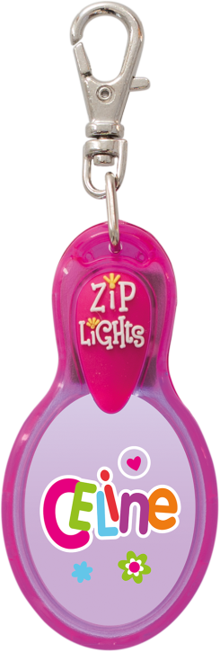 John Hinde Zip Light mit Namen Celine