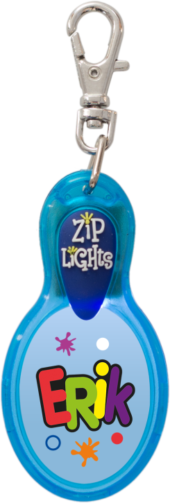 John Hinde Zip Light mit Namen Erik