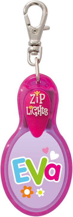 John Hinde Zip Light mit Namen Eva