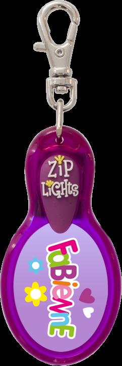 John Hinde Zip Light mit Namen Fabienne