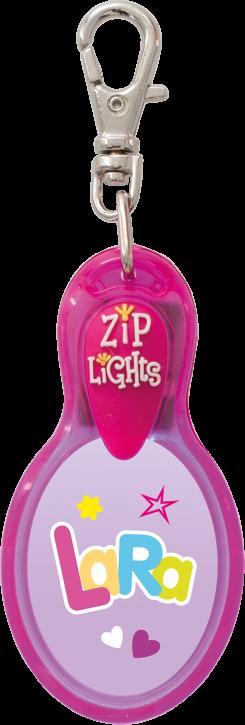 John Hinde Zip Light mit Namen Lara