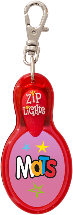 John Hinde Zip Light mit Namen Mats