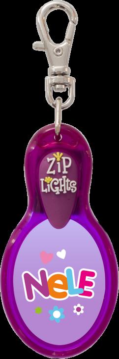 John Hinde Zip Light mit Namen Nele