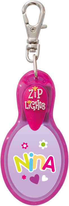 John Hinde Zip Light mit Namen Nina