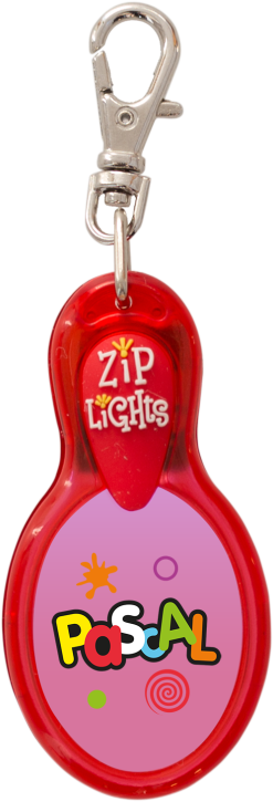 John Hinde Zip Light mit Namen Pascal