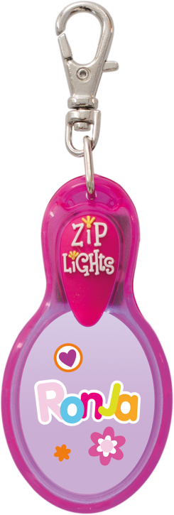 John Hinde Zip Light mit Namen Ronja